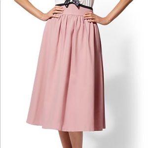 Pink High-Waist Full Skirt